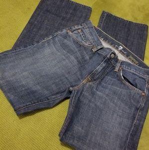 🔥 Mens SEVEN Denim Blue Jeans-31x32